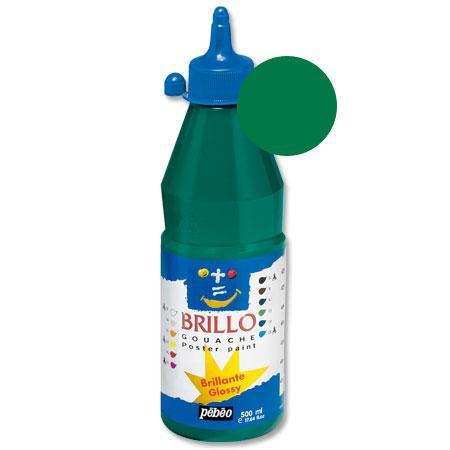 Brillo - Gouache - Vert émeraude 500 ml - couleur 10