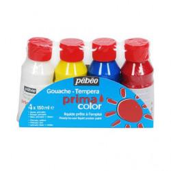 Primacolor liquide - Assortiment de 4 flacons de 150 ml - Couleurs classiques