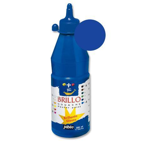 Brillo - Gouache - Bleu outremer 500 ml - couleur 08