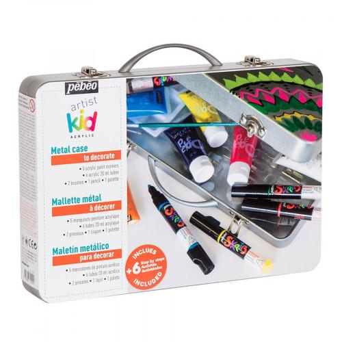 Mallette métal Artist Kids - Skrib et Acrylcolor