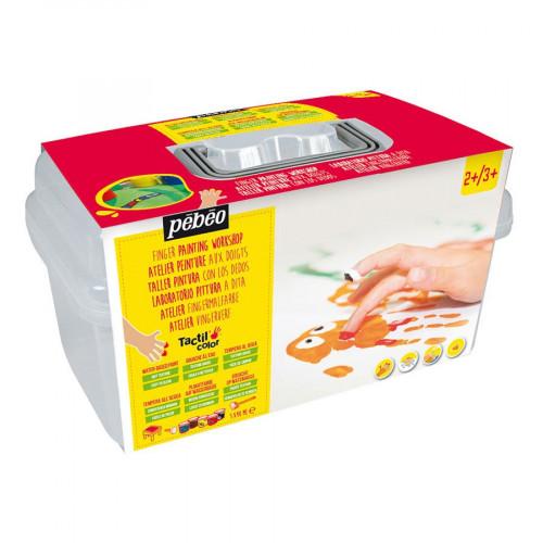 Atelier Gouache aux doigts Tactilcolor 5 x 40 ml