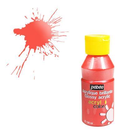 Acrylcolor - 150 ml - Rouge nacré