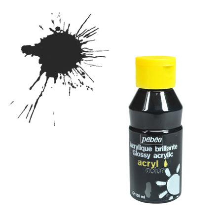Acrylcolor - 150 ml - Noir