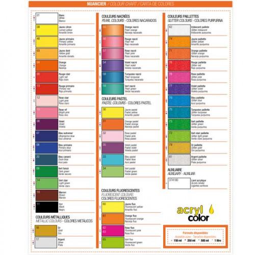 Peinture acrylique Acrylcolor orange nacré - 150 ml