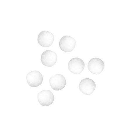 Pompons - Blanc - 0,7 cm - 70 pces