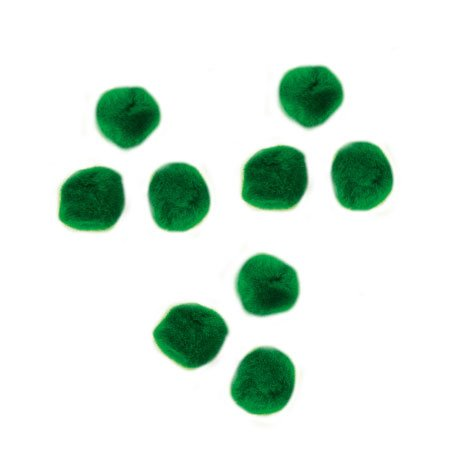 Pompons - Vert - 0,7 cm - 70 pces