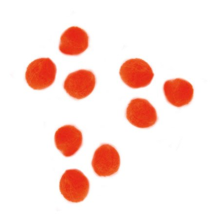 Pompons - Orange - 0,7 cm - 70 pces