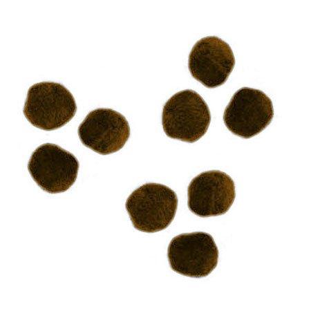Pompons - Brun - 1,5 cm - 60 pces