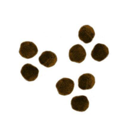 Pompons - Marron - 0,7 cm - 70 pces