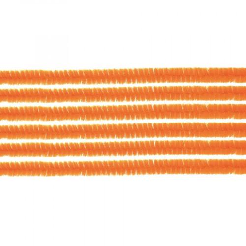 Fil Chenille - 50 cm - Orange - 10 pcs