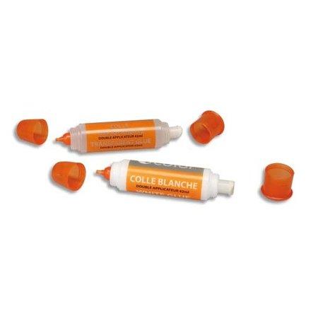 Colle blanche double applicateur - 42 ml