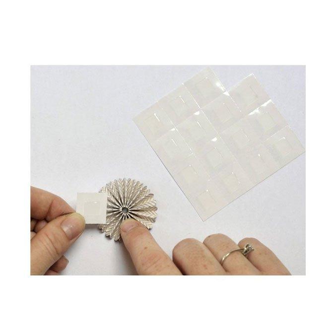 Pastilles de colle transparente et permanente double face Cléotops - 80 pcs