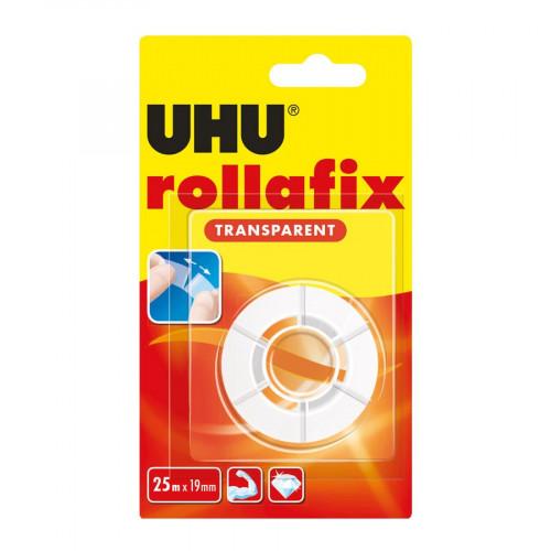 Recharge bande adhésive - Rollafix - Transparent - 25 m x 19 mm