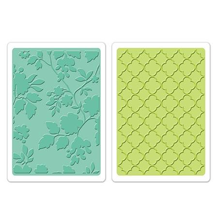 Textured Impressions Embossing Folders - Brenda Walton - Rose Vines & Trellis Set