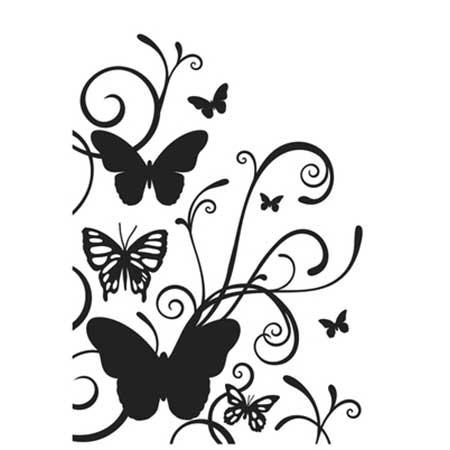 Classeur de Gaufrage - Papillons et arabesques - 10,6 x 15 cm