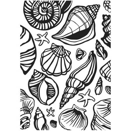 Classeur de Gaufrage - Coquillages - 10,6 x 15 cm