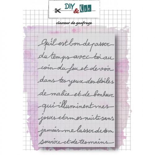 Classeur de gaufrage Petit message - 10,5 x 14,8 cm