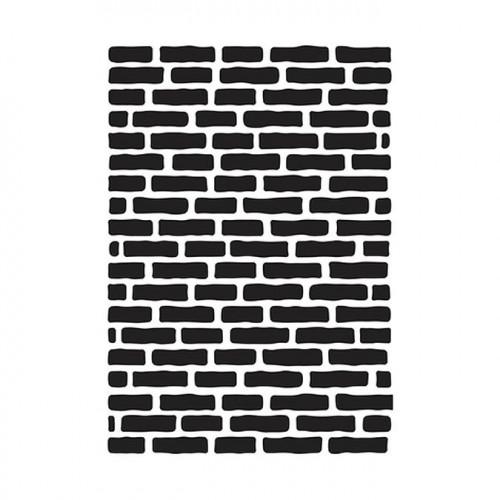 Classeur de gaufrage Mur de briques - 10 x 15 cm