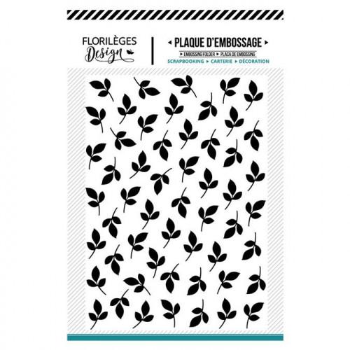Plaque d'embossage Feuillages - 10,5 x 14,5 cm