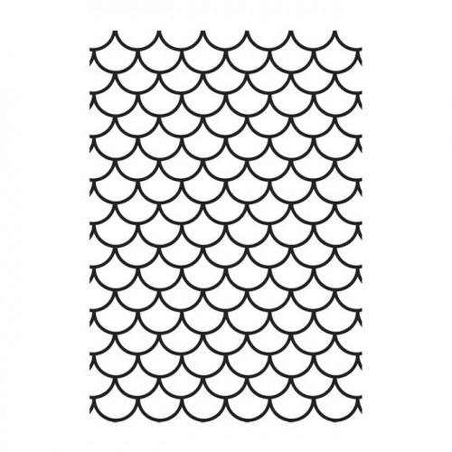 Classeur de gaufrage Ecailles de poisson - 10 x 15 cm