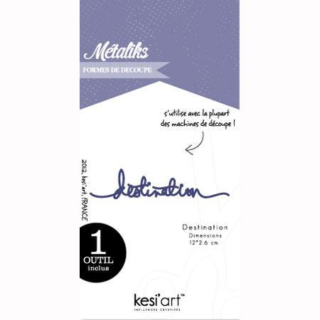 Forme de découpe - Destination - 12 x 2,6 cm
