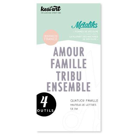 Formes de découpe - Métaliks - Quatuor Famille