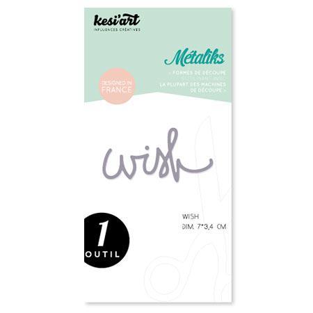 Forme de découpe - Métaliks - Wish - 7 x 3,4 cm
