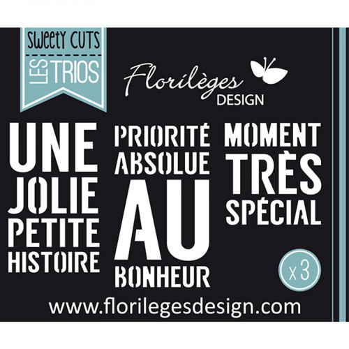 Matrices de coupe - Sweety Cuts Les Trios - Priorité absolue - 3 Dies
