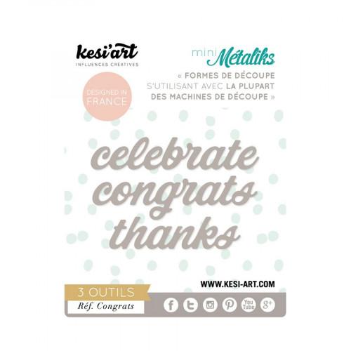 Mini Métaliks - Formes de découpe - Congrats - 3 pcs