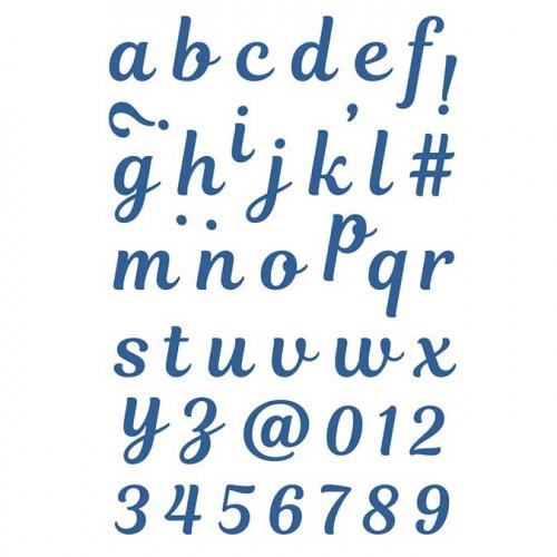 Die Set Alphabet Minuscules - 42 pcs
