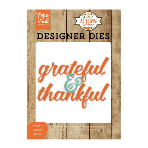 Die Set - Grateful & Thankful