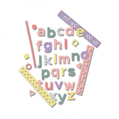 Thinlits Die Set Alphabet : minuscules Pop-Art - 33 pcs