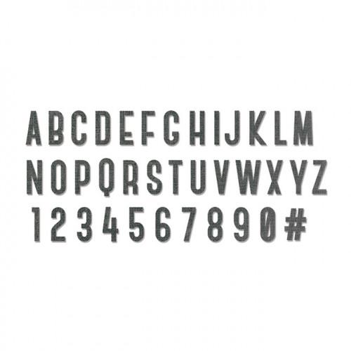 Bigz XL Alphabet Die Society