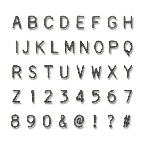 Thinlits Die Set Alphabet et chiffres - 140 pcs