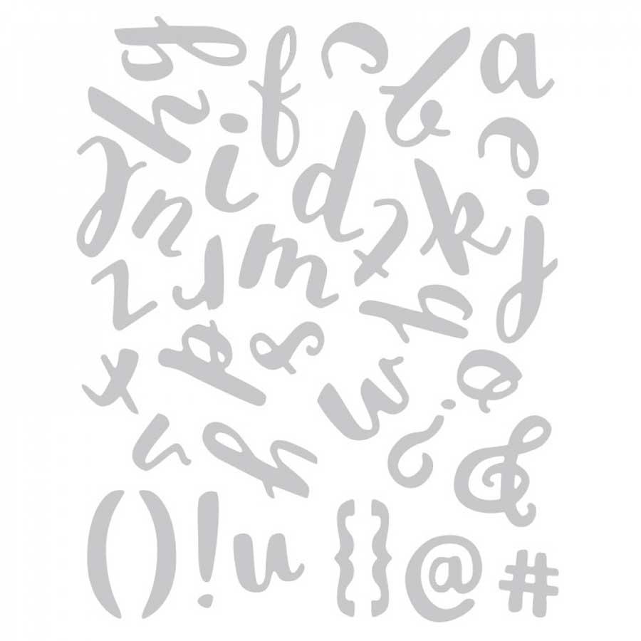 Thinlits Set de 38 Dies alphabet lettres minuscules