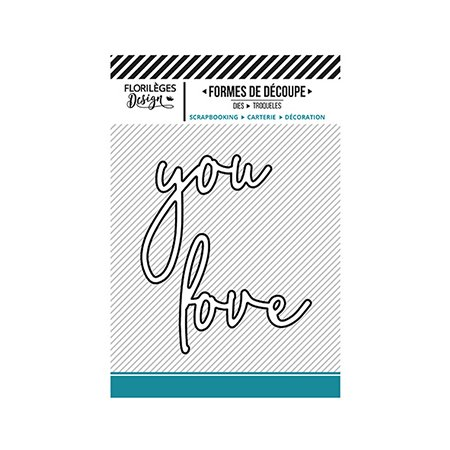Die Set Love you - 2 pcs