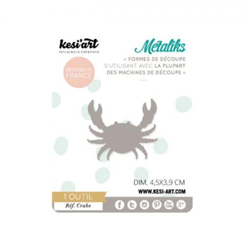 Forme de découpe - Métaliks - Crabe - 4,5 x 3,9 cm