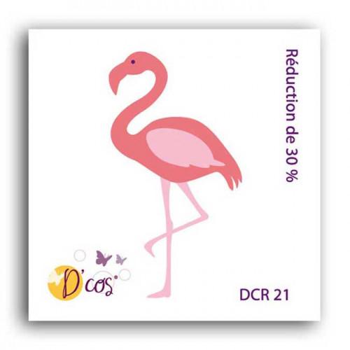 Die D'cos - Flamant rose - 3,2 x 5,6 cm