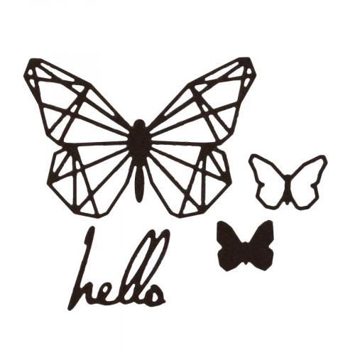 Capsule Août 2017 - Die Set - Hello Butterfly - 4 pcs