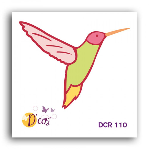 Die D'cos Oiseau tropical - 4,5 x 3,6 cm