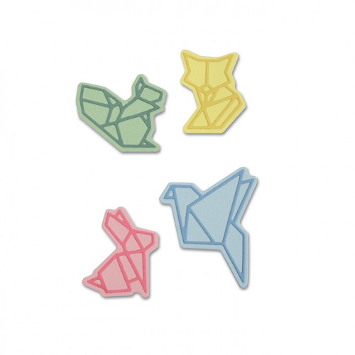 Thinlits Die Set Animaux style Origami - 8 pcs