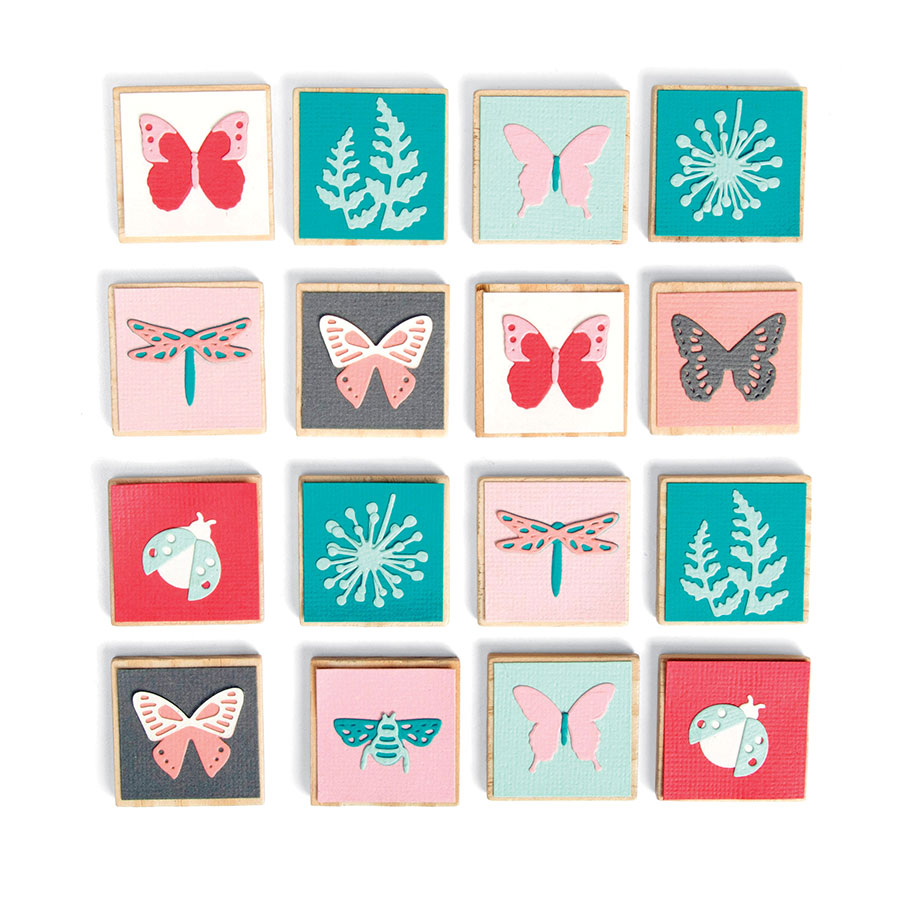 Thinlits Die Set Mini insectes - 10 pcs
