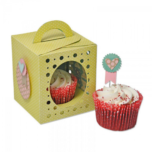 Thinlits Plus Die Set - Box, Cupcake - 18 matrices