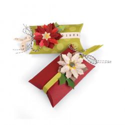 Thinlits Die Set - Box, Pillow & Poinsettias - Jen Long - 7 pces
