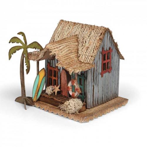 Bigz Die - Village Surf avec cabane par Tim Holtz
