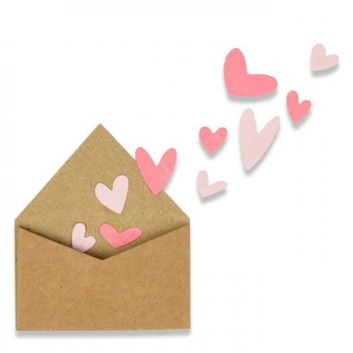 Thinlits Die Set Enveloppe avec cœurs - 2 pcs