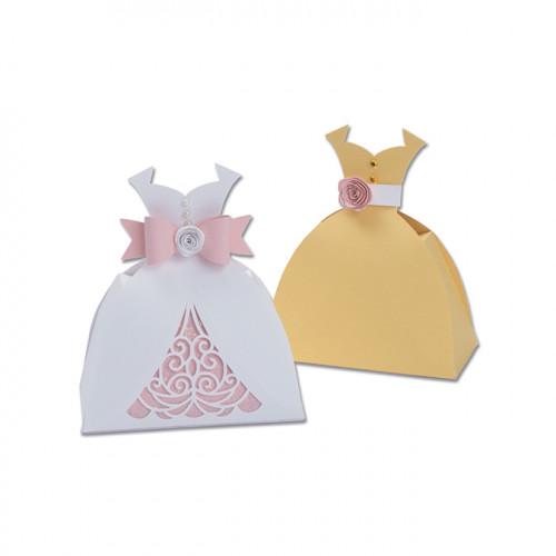 Thinlits Die Set Boîte en forme de robe - 7 pcs