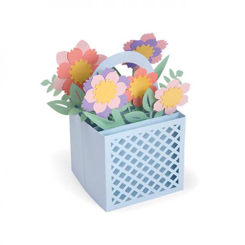 Thinlits Die Set Une carte dans une boîte Panier fleuri - 12 pcs