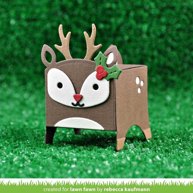 Die Set Cerf pour Mini boîte cadeaux