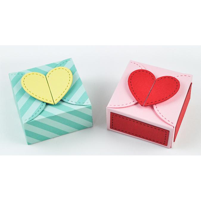 Die Set Boîte cadeau avec fermeture Cœur
